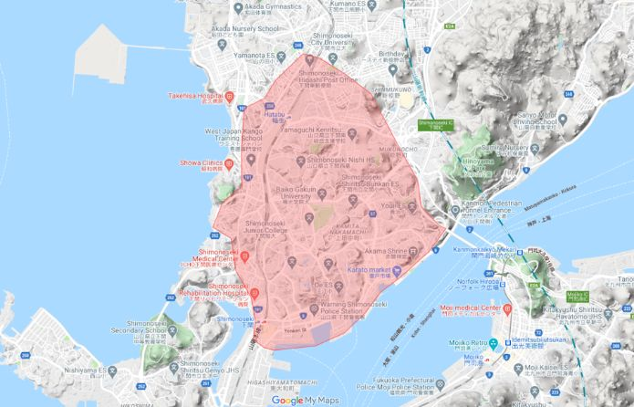 UberEats(ウーバーイーツ)下関エリア