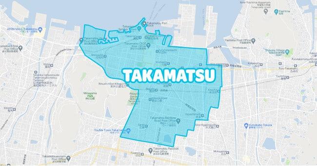 香川県高松市でWolt(ウォルト)が利用できるエリア