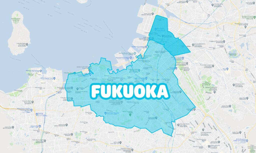 福岡市でWolt(ウォルト)が利用できるエリア・範囲