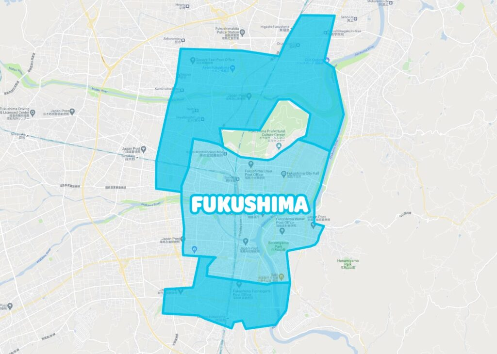 福島県福島市でWolt(ウォルト)が利用できるエリア・範囲
