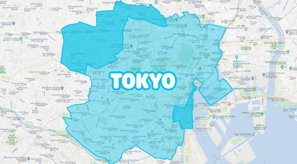 東京でWolt(ウォルト)が利用できるエリア・範囲